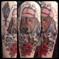 Basset Hounds tattoo -guen douglas