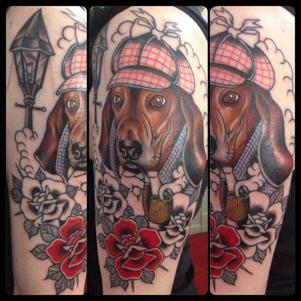 Basset Hounds tattoo -guen douglas