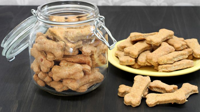 Peanut Butter Banana Dog Cookies