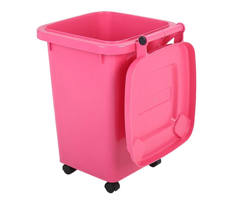 Pink Plastic Garbage Bin