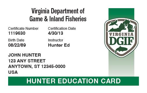 Virginia Online Hunter Safety Course
